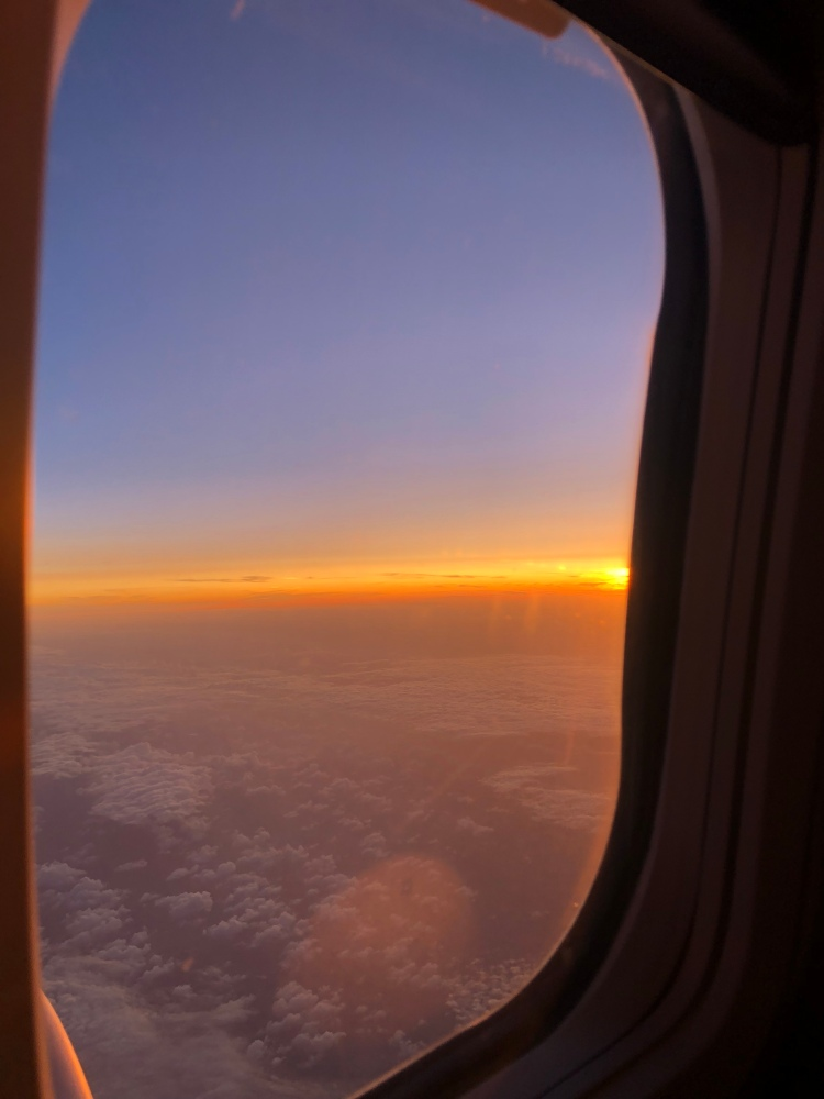 A sunset from the plane.